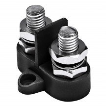 M10 Dual Terminal Stud w/ Removable Isolating Plate - BLACK