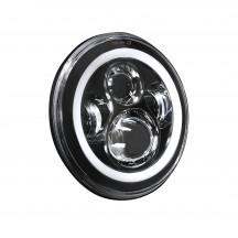 "2pc OLS 7"" 45W Round LED Sealed Beam Headlight Assembly w/Yellow Turn Signal"