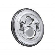 "7"" Round HALO Harley Davidson Motorcycle Headlight Kit - CHROME"