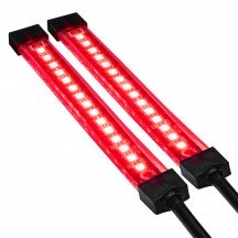 """4.5"""" 15 LED Single Row Motorcycle TBT Light Strip Pair Set - Red"""