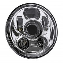 "5.75"" Round LED Sealed Beam Headlight for Harley Bikes - Chrome"