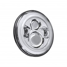 "7"" Round HALO Harley Davidson Motorcycle Headlight Kit - CHROME"