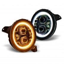 "9"" Round HALO DRL + Turn Signal LED Headlight Set"