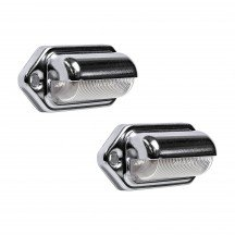 2pc Courtesy/Step LED Light - Chrome