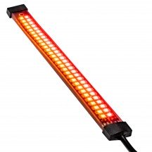 "8"" 60 LED Double Row AMBER Sequential + RED Motorcycle TBT Light Strip"