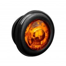 "3/4"" 1 LED Round Clearance Marker Light - AMBER"