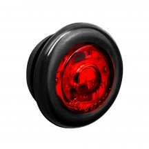 "3/4"" 1 LED Round Clearance Marker Light - RED"