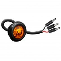 """3/4"""" 1 LED Round Clearance Marker Light with TBT Function - AMBER"""