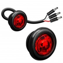 """2pc 3/4"""" 1 LED Round Clearance Marker Light with TBT Function - RED"""