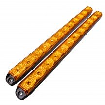 "2pc 16"" 12-LED Sequential Turn Signal Indicator Running Light Bar - AMBER"