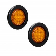 "2pc 2.5"" 13-LED Round Clearance Side Marker - Amber"