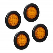 "4pc 2.5"" 13-LED Round Clearance Side Marker - Amber"