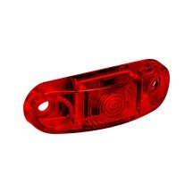 """8pc 2.5"""" 1 LED Oval Clearance Marker Light - RED"""