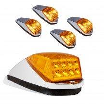 """5pc 11""""x4""""x2.5"""" Large Size Amber Cab Light Kit"""