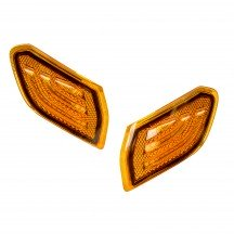 Amber LED Fender Side Marker Light Kit for Jeep JL & JT Gladiator - Amber Lense