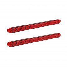 "2pc 16"" 11-LED Trailer Identification Tail Light Bar - Red"