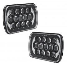 "2pc 7"" x 5"" CREE LED Headlight w/ DRL"
