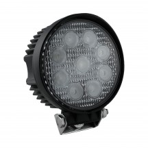 "4.5"" 27W LED Round Work Light - Flood"