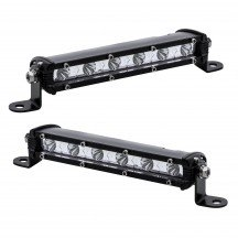 "2pc Single-Row 7"" 18W LED Light Bar - Spot"