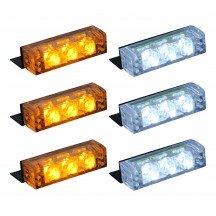 18-LED 6-Light Grille Light + Controller - Amber / White