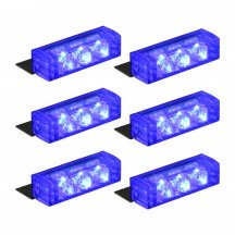 18-LED 6-Light Grille Light + Controller - Blue