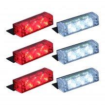 18-LED 6-Light Grille Light + Controller - Red / White