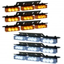 54-LED 6-Light Deck and Grille Light + Controller - Amber / White