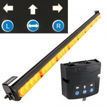 "SolarBlast 36"" LED Deck Light + Traffic Advisor Controller - Amber"