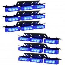 54-LED 6-Light Deck and Grille Light + Controller - Blue