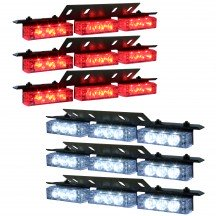 54-LED 6-Light Deck and Grille Light + Controller - Red / White