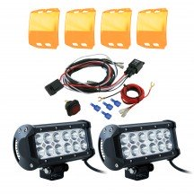 "CRUIZER 6.5"" 36W LED Light Bar + 8ft Wiring Harness 7pc Kit"