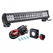 "CRUIZER 20"" 126W LED Light Bar + 8ft Wiring Harness Kit"