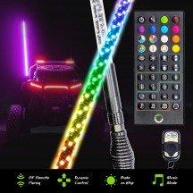 Smart IC RF Control RGB LED Whip - 5FT