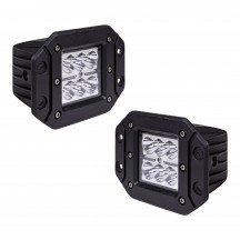 "2pc 5"" 18W Cube Flush-Mount LED Light - Spot"