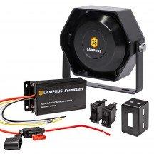 SoundAlert 100W Electric Air Horn Amplifier + 100W 118-124dB Speaker Kit