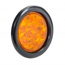 "4"" 10-LED Round Tail Light - Amber"