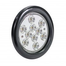 "4"" 10-LED Round Tail Light - White"