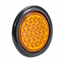 "4"" 24-LED Round Tail Light - Amber"
