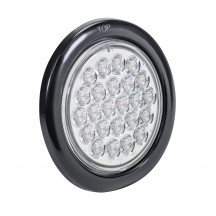 "4"" 24-LED Round Tail Light - White"