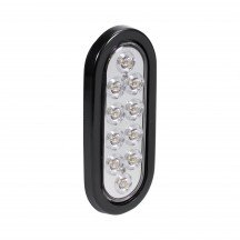 "6"" 10-LED Oval Tail Light - White"