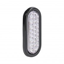 "6"" 24-LED Oval Tail Light - White"
