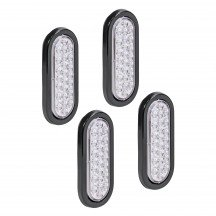 "4pc 6"" 24-LED Oval Tail Light - White"