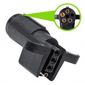 6-Way Round to 4-Way Flat Trailer Adapter