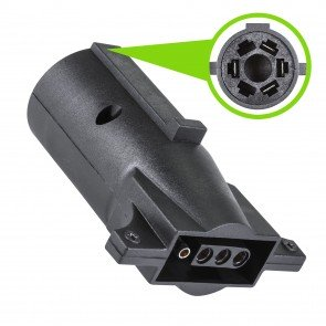 7-Way Blade to 4-Way Flat Trailer Adapter