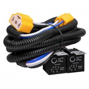 H4 Negative-Switched Headlight System Relay Wiring Harness Kit