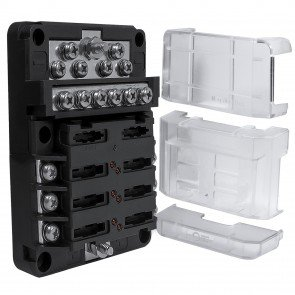PWR0031 6-Way Positive + PWR0032 12-Way Ground M4 Modular Fuse Box