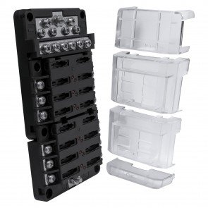 2 x PWR0031 6-Way Positive + PWR0032 12-Way Ground M4 Modular Fuse Box