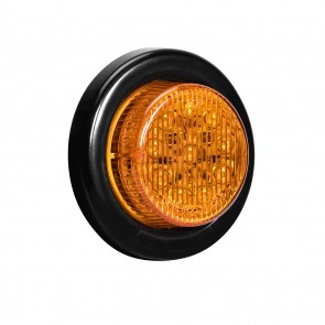 """2"""" 10-LED Round Clearance Side Marker - Amber"""