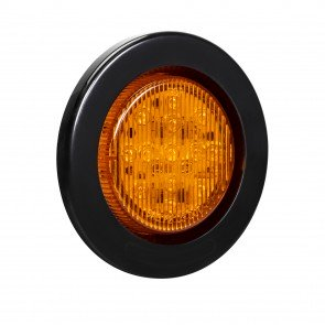 """2.5"""" 13-LED Round Clearance Side Marker - Amber"""