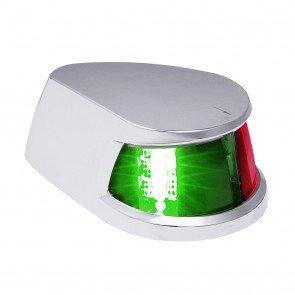 Chrome Plated Horizontal-Mount Marine Navigation Bicolor Lamp
